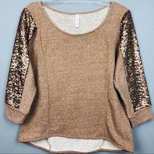 XHILARATION Sweatshirt with Sequins